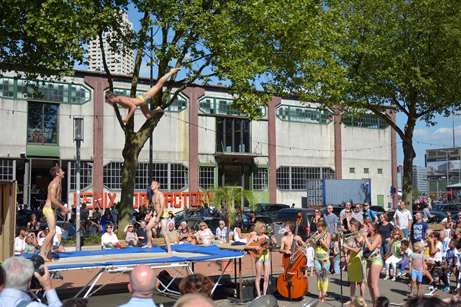 Street theatre in Rotterdam