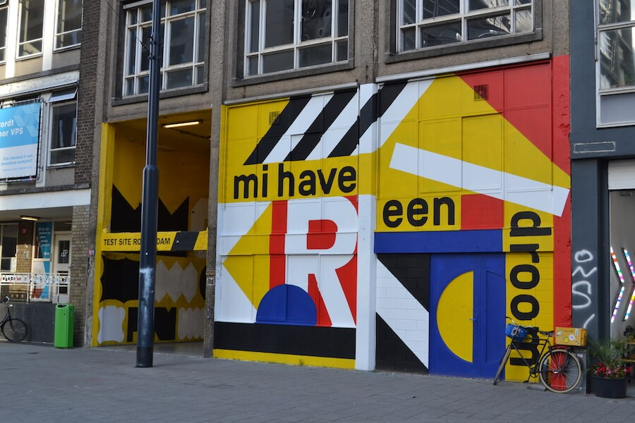 Inside Rotterdam are many street poems